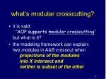 what s modular crosscutting