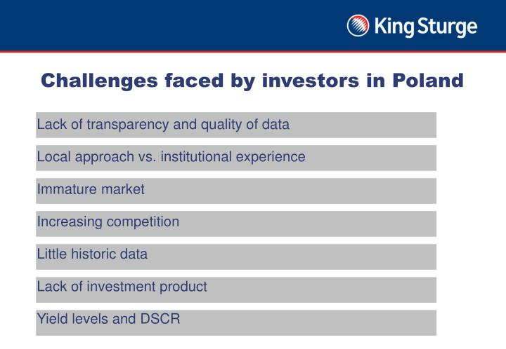 Challenges faced by investors in Poland