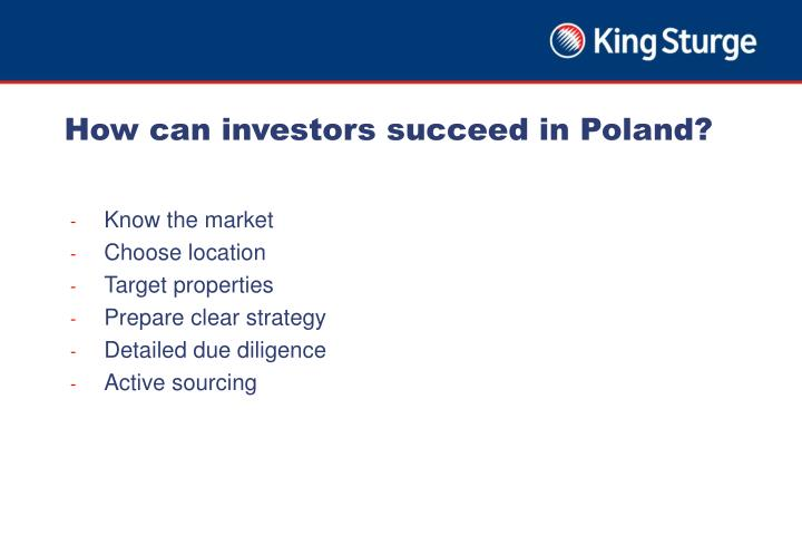 How can investors succeed in Poland?