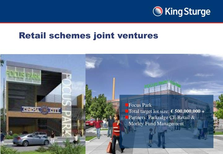 Retail schemes joint ventures