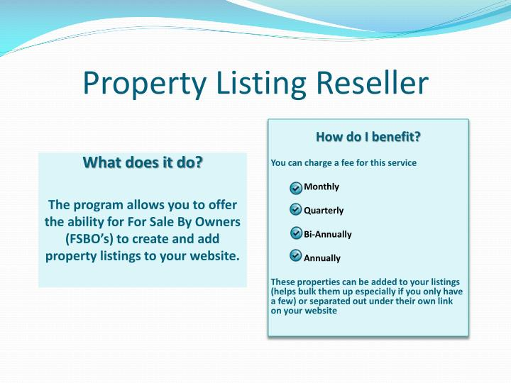 Property Listing Reseller