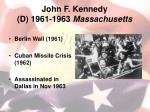 john f kennedy d 1961 1963 massachusetts1