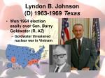 lyndon b johnson d 1963 1969 texas1