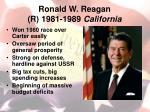 ronald w reagan r 1981 1989 california