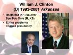 william j clinton d 1993 2001 arkansas1
