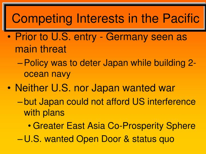 Competing Interests in the Pacific