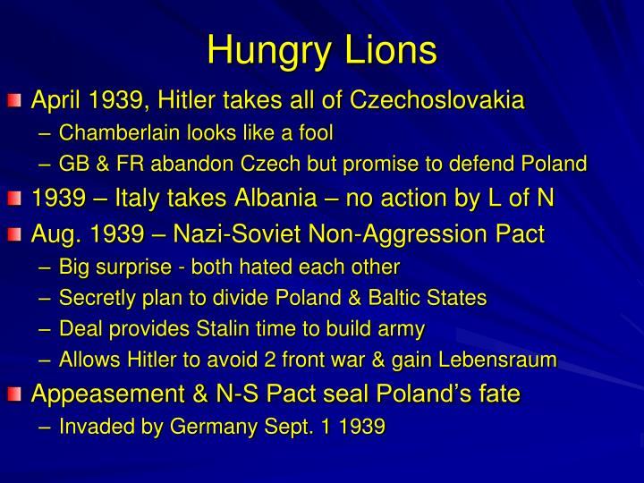 Hungry Lions