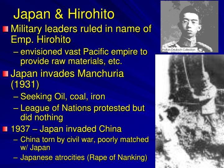 Japan & Hirohito