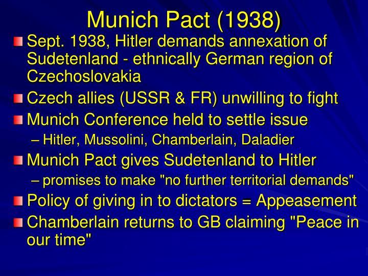 Munich Pact (1938)