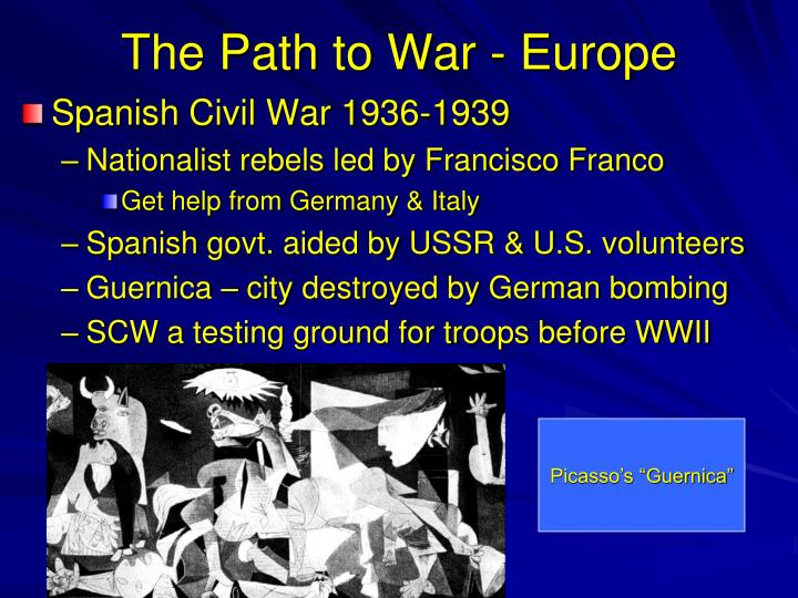 The Path to War - Europe