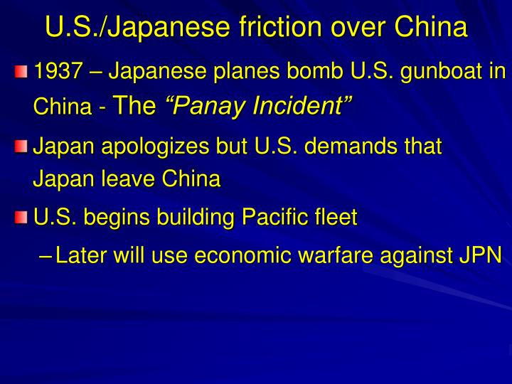 U.S./Japanese friction over China