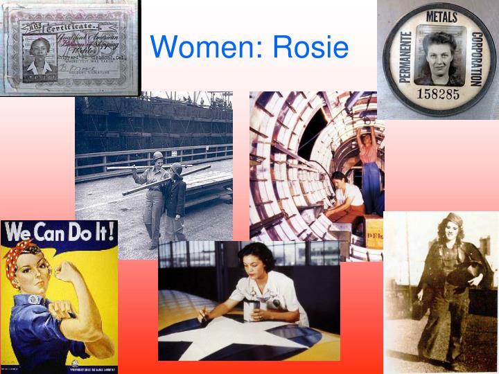 Women: Rosie