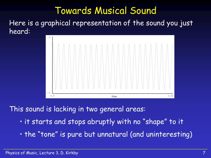 Towards Musical Sound