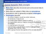 central semantic web c oncepts