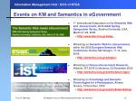events on km and semantics in egovernment
