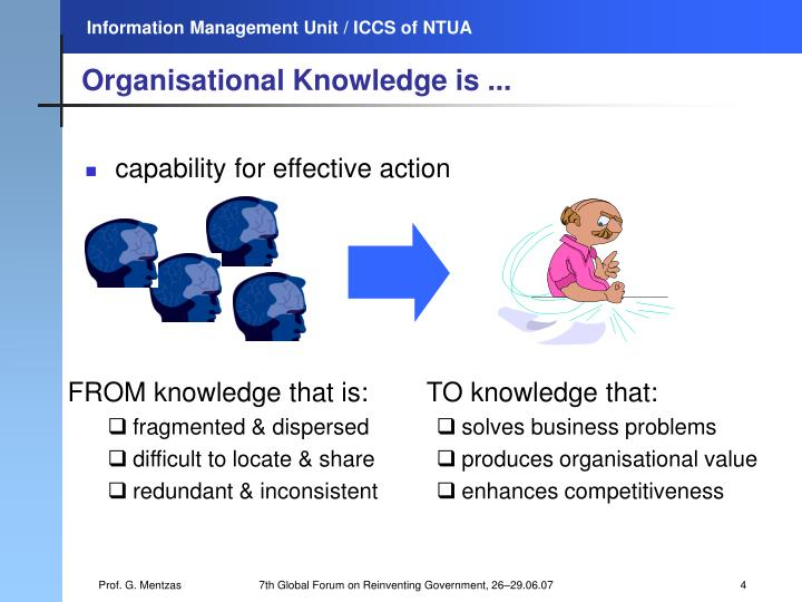 Organisational Knowledge is ...