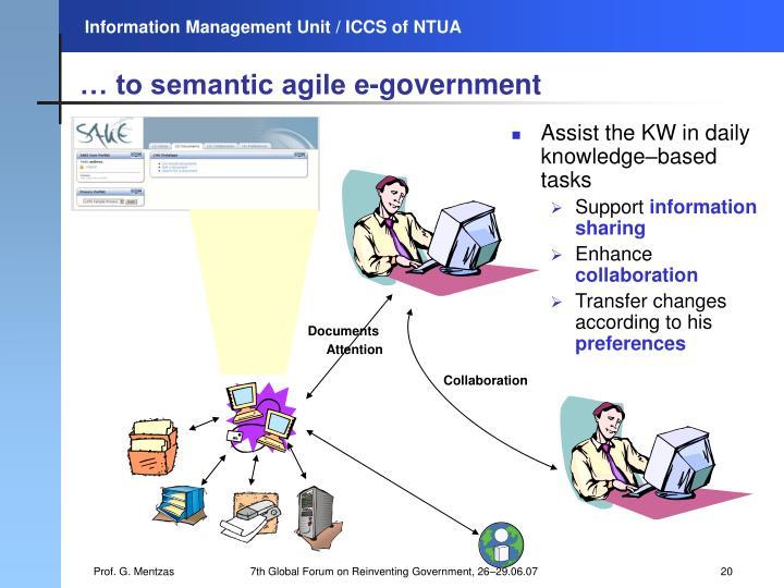 … to semantic agile e-government