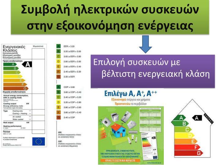 Συμβολή ηλεκτρικών συσκευών στην εξοικονόμηση ενέργειας