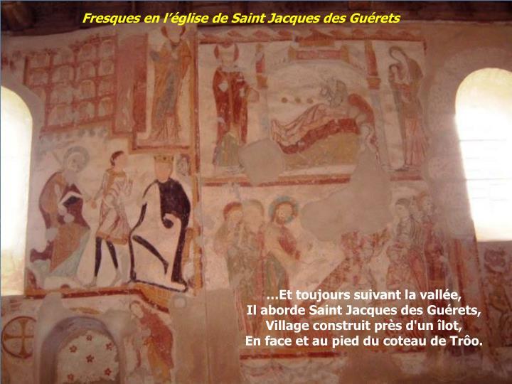Fresques en l'église de Saint Jacques des Guérets