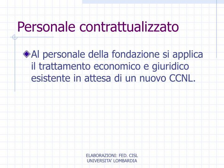 Personale contrattualizzato