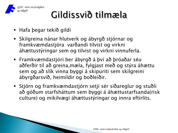 Gildissvið