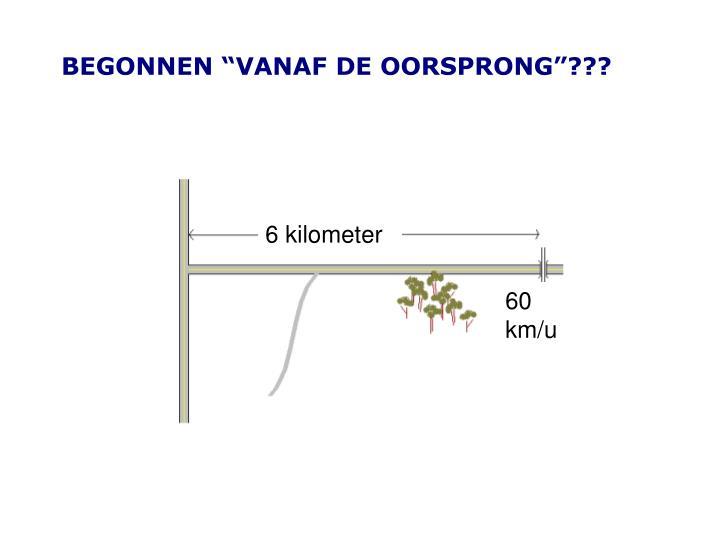 """BEGONNEN """"VANAF DE OORSPRONG""""???"""