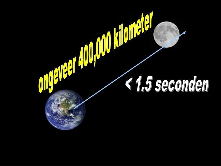ongeveer 400,000 kilometer