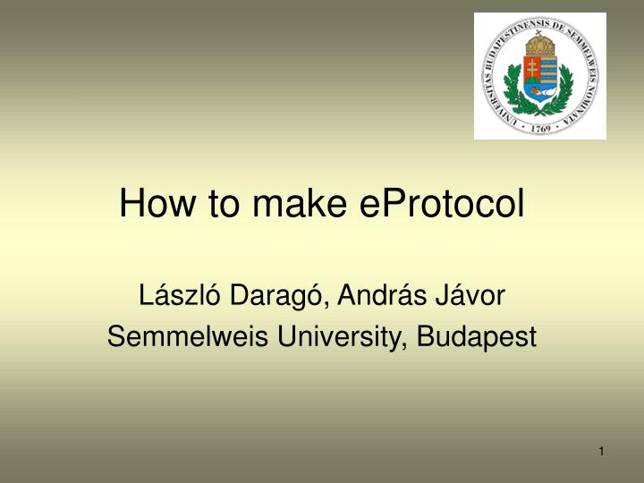 How to make eprotocol