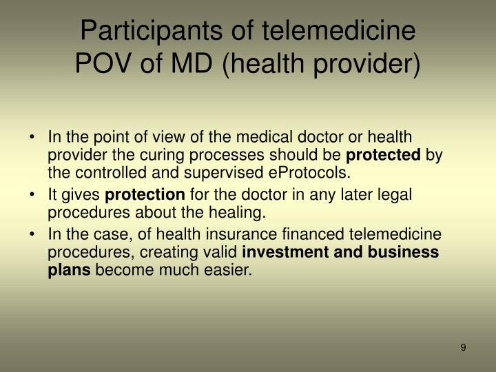 Participants of telemedicine