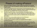 phases of making eprotocol