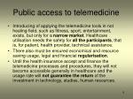 public access to telemedicine