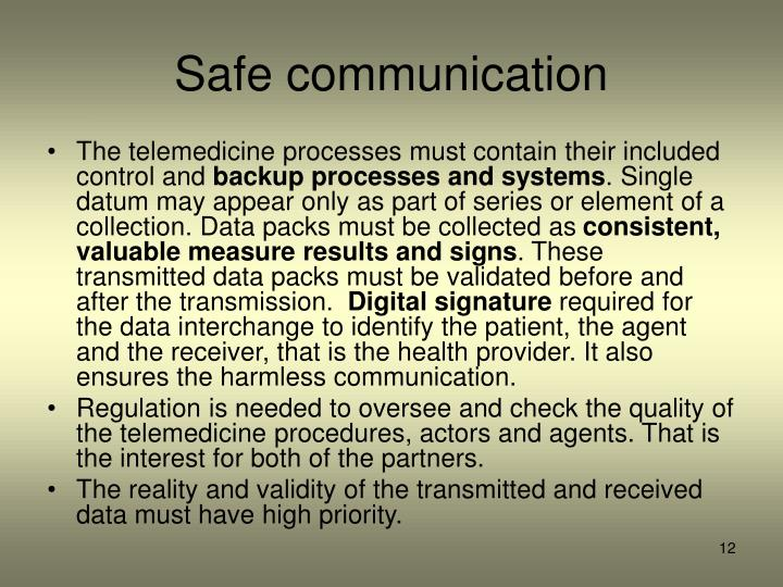 Safe communication