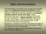 safe communication