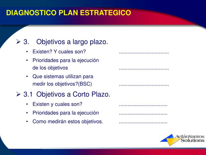DIAGNOSTICO PLAN ESTRATEGICO