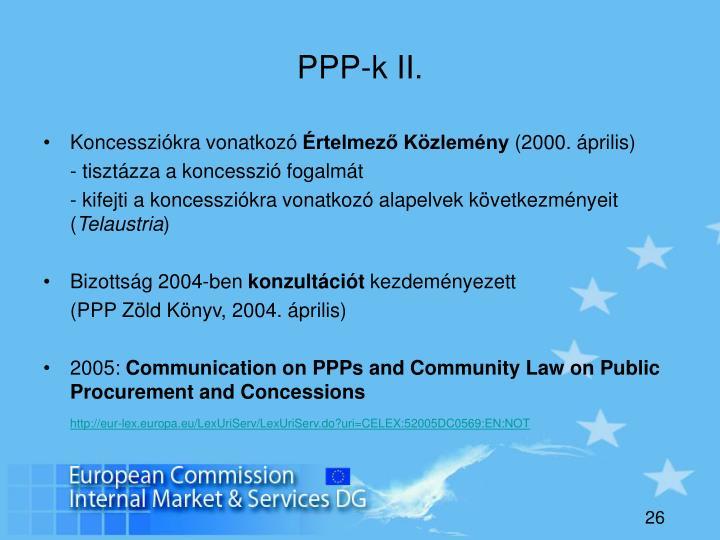 PPP-k II.