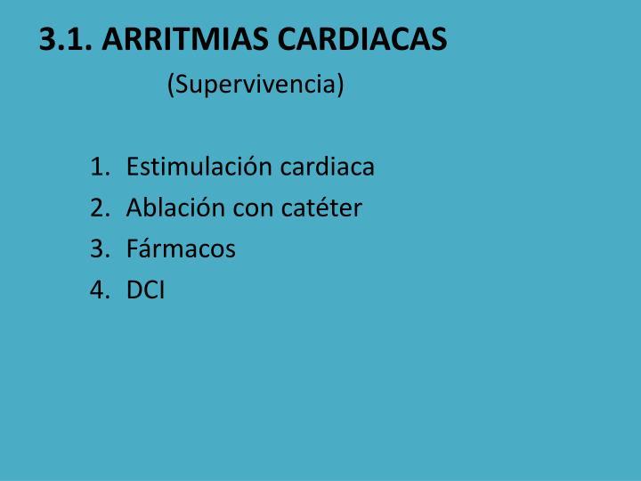 3.1. ARRITMIAS CARDIACAS
