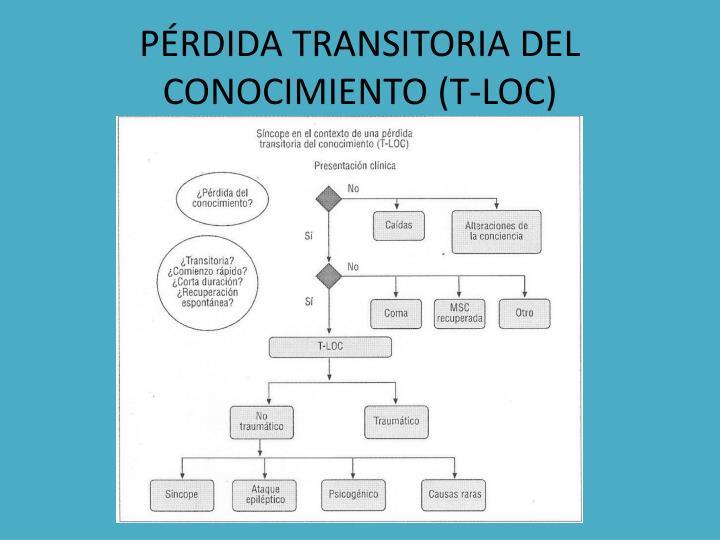 PÉRDIDA TRANSITORIA DEL CONOCIMIENTO (T-LOC)