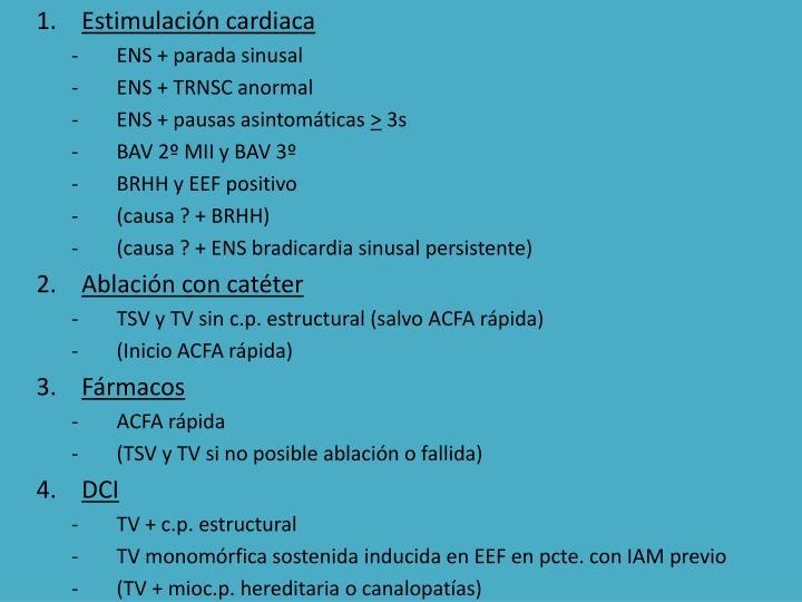 Estimulación cardiaca