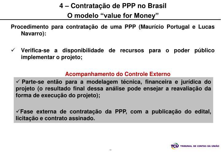 4 – Contratação de PPP no Brasil