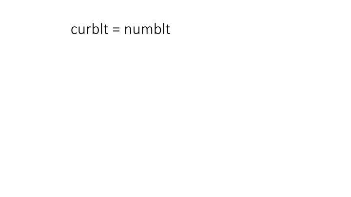 curblt = numblt