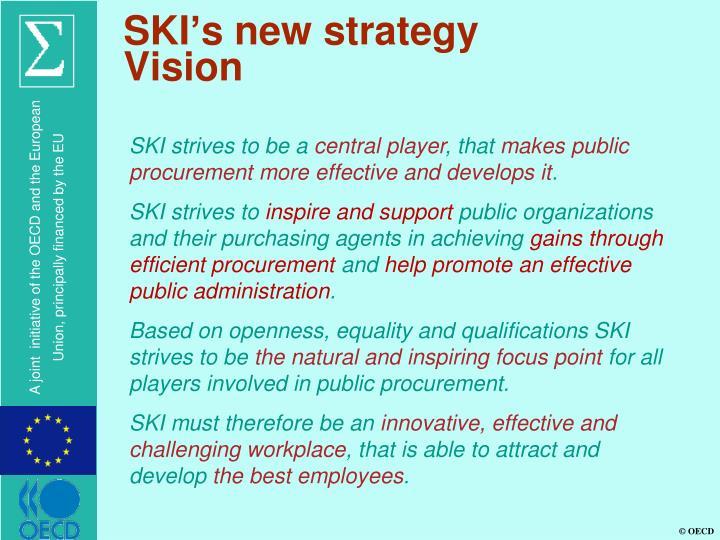 SKI's new strategy