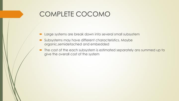 COMPLETE COCOMO