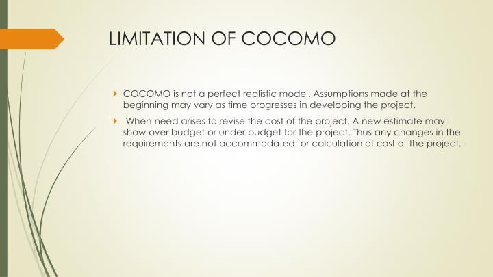 LIMITATION OF COCOMO