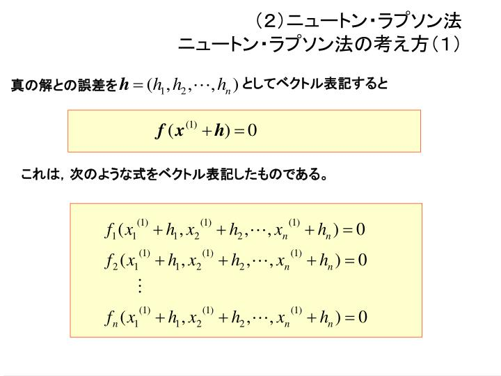 (2)ニュートン・ラプソン法