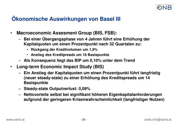 Ökonomische Auswirkungen von Basel III