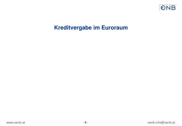 Kreditvergabe im Euroraum