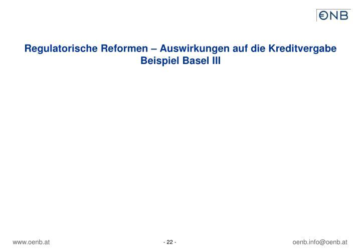 Regulatorische Reformen – Auswirkungen auf die Kreditvergabe