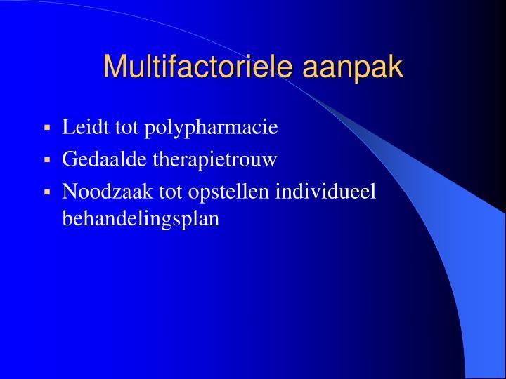 Multifactoriele aanpak