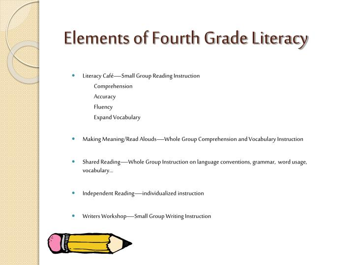 Elements of Fourth Grade Literacy