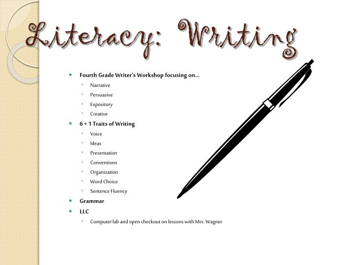 Literacy:  Writing
